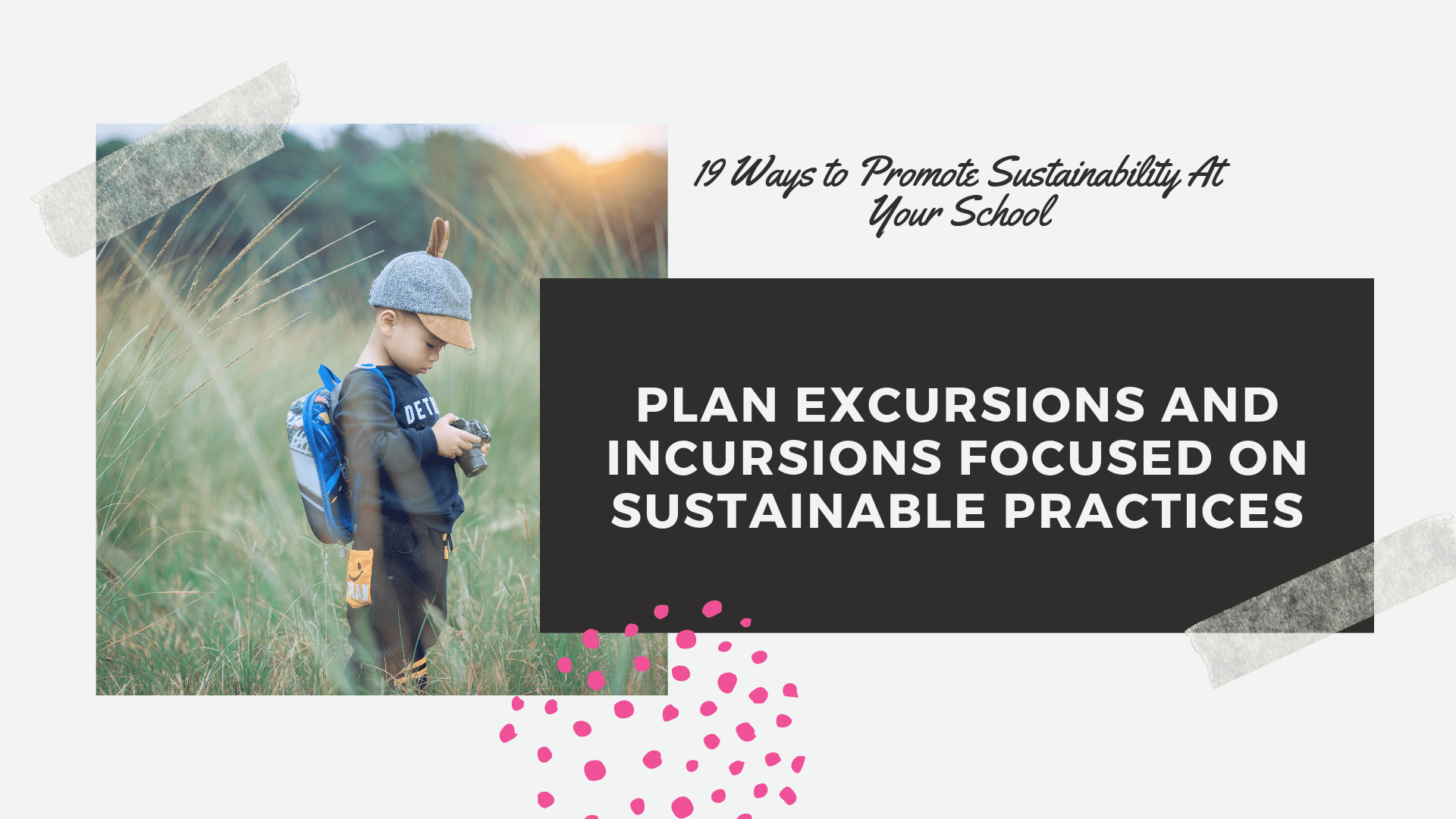 sustainable practices on excursions