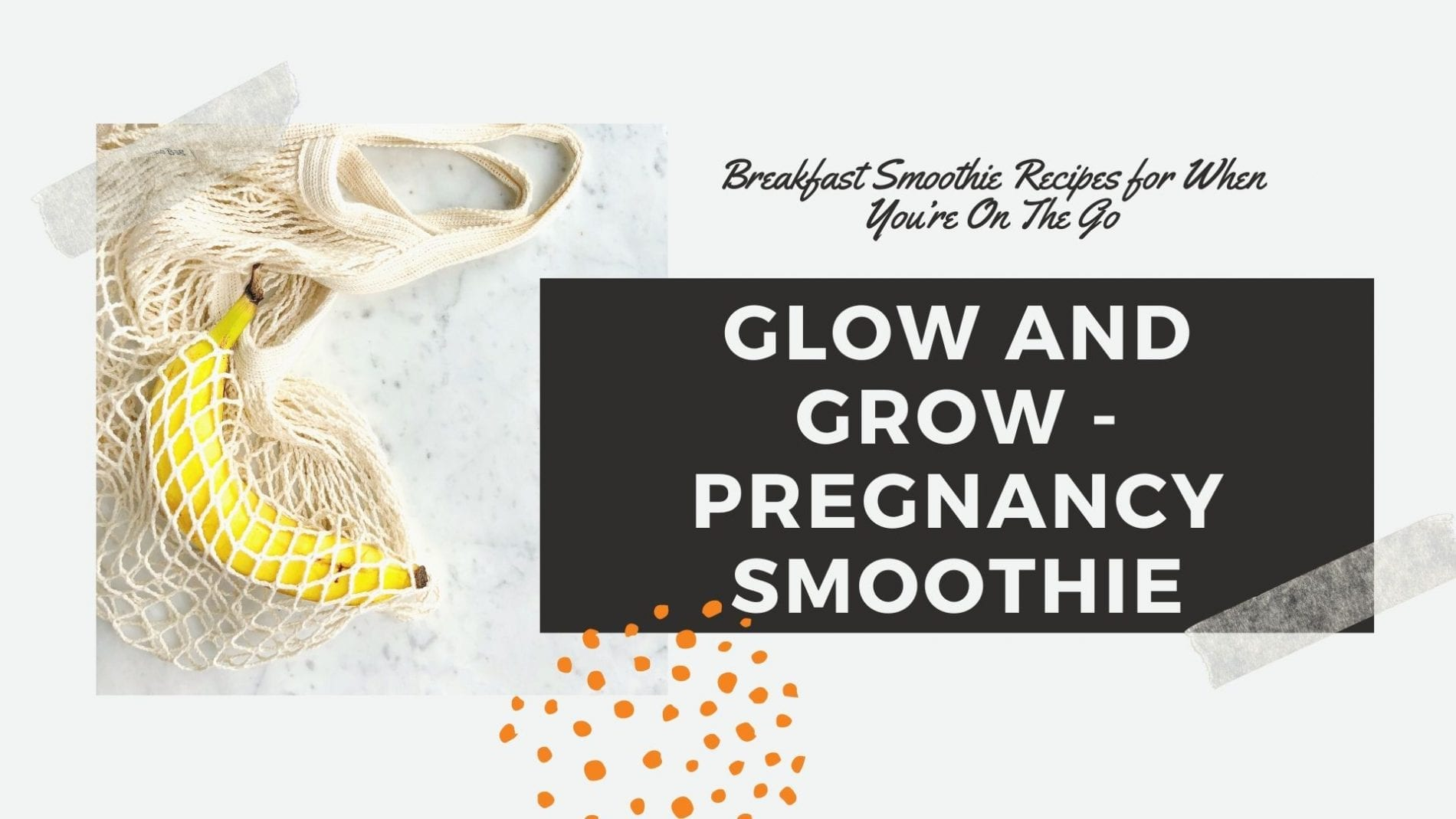pregnancy smoothie recipes vegan