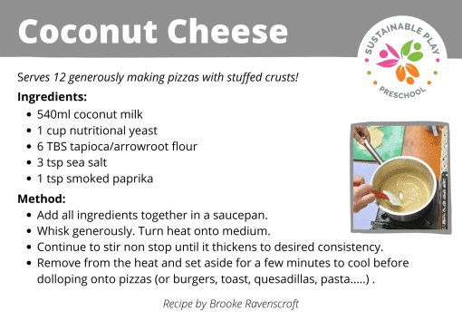 plant based coconut cheese food sustainable play